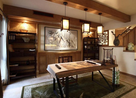 14款新中式书房装修效果图,经典耐看的设计