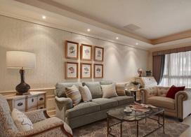 弥漫纯正美式风情 ,135平米三室两厅装修效果图