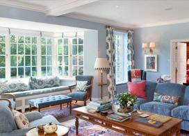 20套田园温馨客厅背景墙装修效果图,暖暖的家,幸福的感觉~