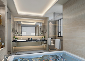 10款豪华大面积卫生间瓷砖效果图