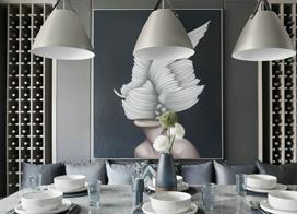 与众不同的装饰风格,120平米三室两厅装修效果图