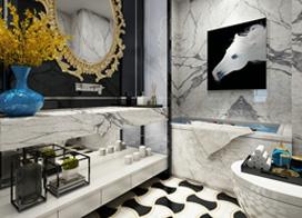 10款好看的卫生间瓷砖效果图,让你感觉到生活空间的美好和方便