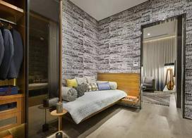 低调的奢华,120平米金属质感三室两厅装修效果图