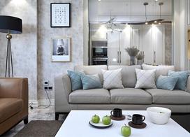 浅色为主基调,120平米现代简约三室两厅装修效果图