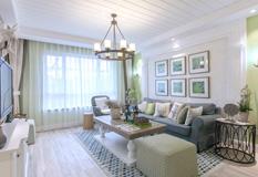 130平美式田园阳光三室两厅装修效果图,贴近自然的温暖