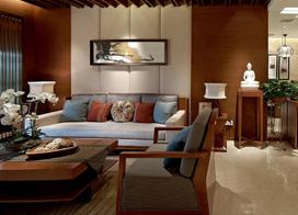 抛弃臃肿打造出利落明亮的新中式,三室两厅装修效果图
