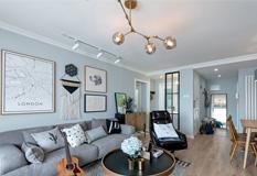 卫生间改衣帽间,80平米北欧风格两室改三室装修效果图