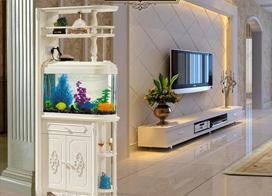 18款鱼缸隔断图片,看看别人家的鱼缸摆放位置