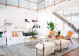 白色波西米亚风格住宅,128平米两房两厅装修效果图