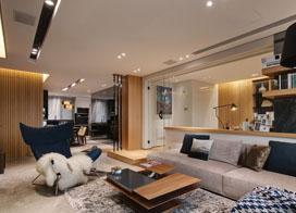 现代风格装修,120平米三室两厅装修效果图