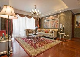 巧用镜子延伸视觉,110平米三室两厅装修实景图