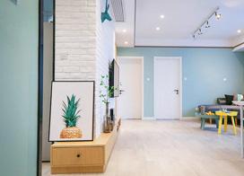 小清新北欧风,110平米两房两厅装修效果图