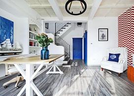进门就能闻到海的味道,140平米三房两厅装修效果图