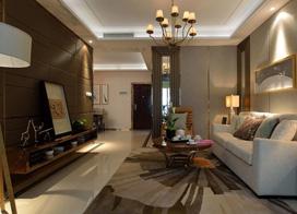 韵味优雅灵动,150平米三室两厅装修效果图