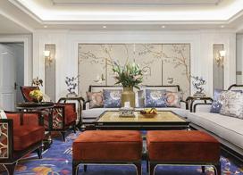 中国风恰如其分,130平米三室两厅装修效果图