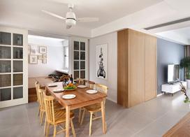 经典北欧风格公寓,140平米三房两厅装修效果图
