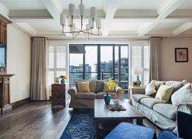 简约儒雅的宁静,130平米三室两厅装修效果图