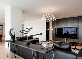 现代风格豪宅装修,225平米四室二厅装修效果图