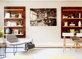 中性的色彩,60平米简约一居室小户型装修图