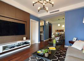 摩登现代简约风格,80平米两房一厅装修效果图