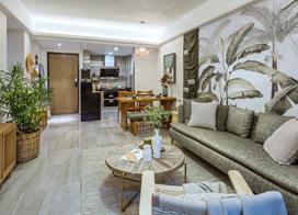 原生态的野性与细腻,80平米混搭两房一厅样板间