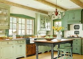 浪漫厨房,13款开放式厨房装修效果图