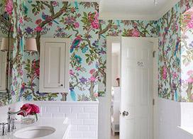 印花小世界 10款卫生间壁纸装修效果图