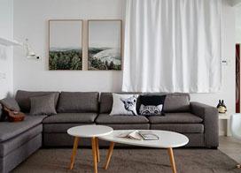 纯净北欧风澳门皇冠A级视频,100平米两室一厅澳门皇冠A级视频效果图