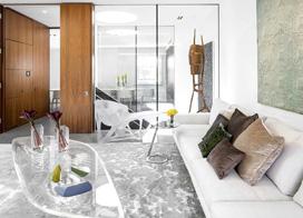 英伦优雅范,188平米三室两厅装修效果图