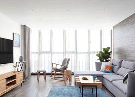 冬日的阳光,170平米北欧风格复式公寓装修效果图