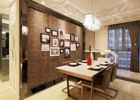 三口之家现代风,96平米两房一厅装修效果图