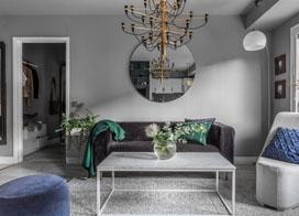 带有户外SPA的现代公寓,46平米一居室小户型装修图