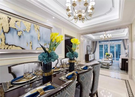 轻奢素雅的浪漫,105平米两房一厅现代法式风格装修效果图