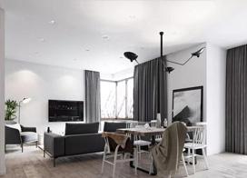 静享惬意时光,180平米文艺北欧风复式公寓装修效果图