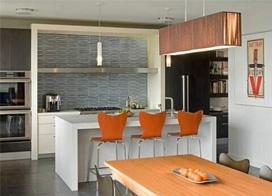 13福开放式厨房吧台装修效果图