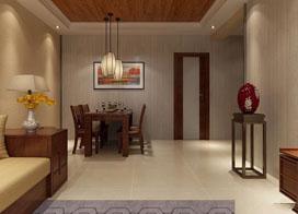 100平米三室两厅新中式装修效果图