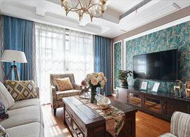 140平方美式跃层三室两厅装修效果图