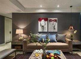 140平方三室两厅装修效果图欣赏