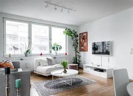 85平方两室一厅装修图片, 简洁素雅北欧风