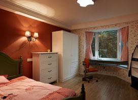 80年后的活力的美式新家,120平米三室两厅装修效果图