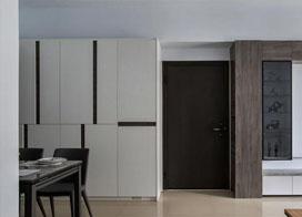 86㎡现代小三室,灰白色调,越简单越好看