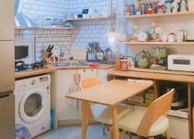 清新小厨房设计图片