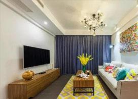 清新浪漫,90平北欧风格两房一厅装修效果图