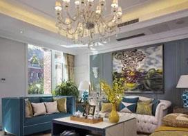 花58万装修的300平清新美式别墅效果图