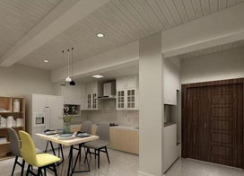 120平米三居室简约北欧装修风格案例