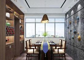 家装客厅餐厅效果图,整洁好看实用性也强