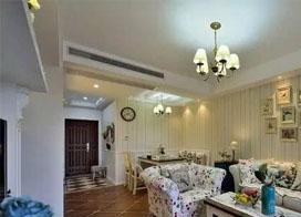 小清新简约美式两房一厅装修效果图