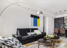 色彩靓丽的时尚现代简约三室两厅装修效果图
