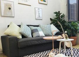 装修日式小清新风格,55平米复式公寓装修效果图