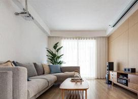 室内清新自然,100平米三室两厅装修效果图